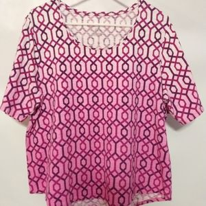 Chico's ultimate tee ombre pink large tee